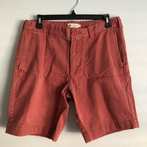 J Crew Washed Red Shorts
